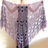Lilac bridal shawl wool triangle shawl fringe bridesmaid shawl wedding cape bride shawl winter bridal wrap wedding dress shawl bridal cape