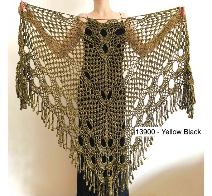 Beige shawl for wedding Bridesmaid shawl wedding capelet Wool triangle shawl fringe Lace shawl bridal stole bride winter shawl wrap  Wedding  3
