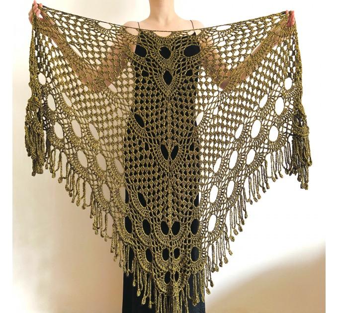 Yellow black lace shawl bridal shawl wedding capelet triangle shawl fringe wool bride stole bridesmaid capelet bride wrap  Wedding