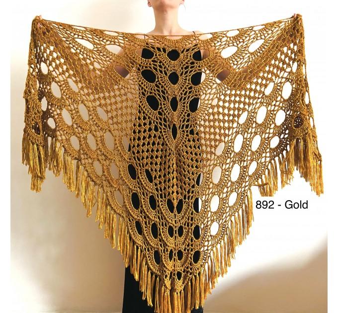 Beige shawl for wedding Bridesmaid shawl wedding capelet Wool triangle shawl fringe Lace shawl bridal stole bride winter shawl wrap  Wedding  4