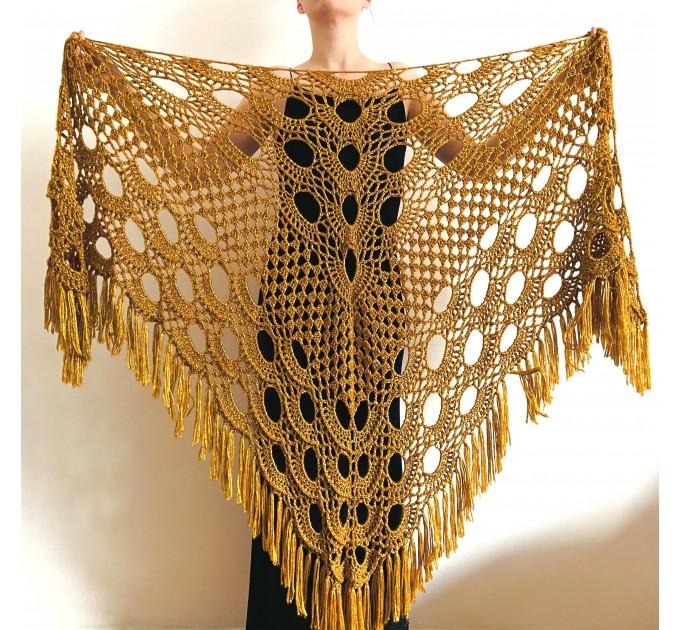 GOLD bridal wrap Bridal shawl Wedding shawl Wedding wrap Bridal cape Wedding cover up Bride shawl Fuzzy shawl Triangle Shawl Fringe  Wedding