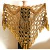 GOLD bridal wrap Bridal shawl Wedding shawl Wedding wrap Bridal cape Wedding cover up Bride shawl Fuzzy shawl Triangle Shawl Fringe