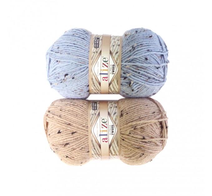 ALIZE ALPACA TWEED Yarn Knit Alpaca Wool Yarn Winter Yarn For Crochet Scarf Hat Knitting Sweater Shawl Poncho Cardigan Pullover  Yarn  1