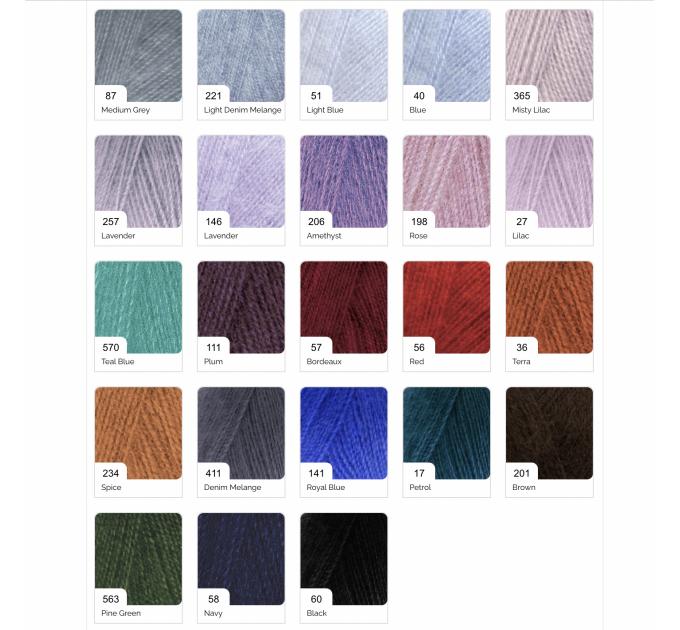 ALIZE ANGORA REAL 40 Yarn Mohair Wool Yarn Acrylic Knitting Sweater Cardigan Hat Poncho  Scarf Crochet Shawl Wraps Soft Yarn  Yarn  2