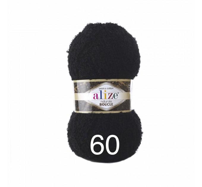 NATURALE BOUCLE Alize Yarn wool knitting yarn, cotton crochet yarn, soft baby blanket, clotting scarf hat yarn  Yarn  1