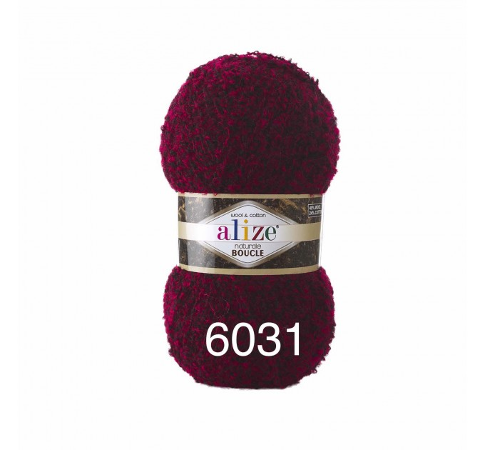 NATURALE BOUCLE Alize Yarn wool knitting yarn, cotton crochet yarn, soft baby blanket, clotting scarf hat yarn  Yarn  2
