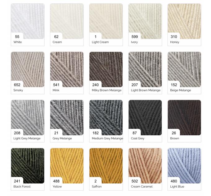 ALIZE SUPERLANA MIDI Yarn Wool Yarn Multicolor Yarn Acrylic Wool Crochet Yarn Knitting Yarn Crochet Sweater Poncho  Yarn  1
