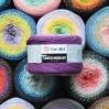 FLOWERS MOONLIGHT YarnArt Gradient 250 g 1000 meters Glitter Metallic Lurex Multicolor cotton yarn Rainbow crochet yarn hand knit Shiny yarn