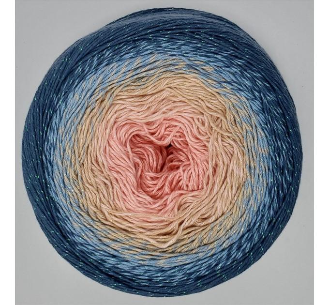FLOWERS MOONLIGHT YarnArt Gradient 250 g 1000 meters Glitter Metallic Lurex Multicolor cotton yarn Rainbow crochet yarn hand knit Shiny yarn    6