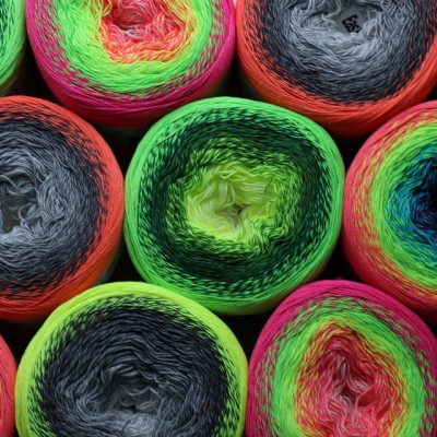 YARNART FLOWERS VIVID 250 grams-1000 meter Gradient Cotton Yarn Rainbow Knitting Yarn Crochet Cotton Organic Soft Yarn