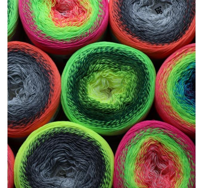 YARNART FLOWERS VIVID 250 grams-1000 meter Gradient Cotton Yarn Rainbow Knitting Yarn Crochet Cotton Organic Soft Yarn  Yarn