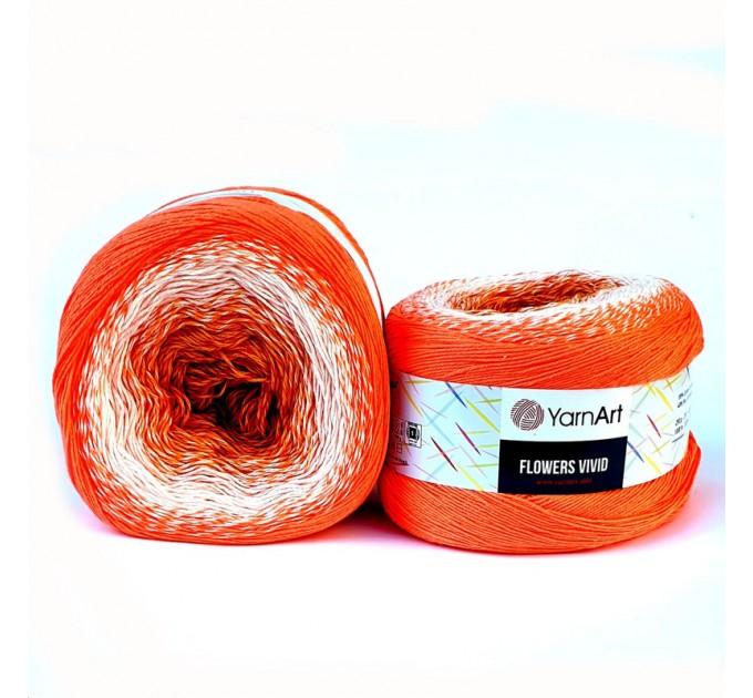 YARNART FLOWERS VIVID 250 grams-1000 meter Gradient Cotton Yarn Rainbow Knitting Yarn Crochet Cotton Organic Soft Yarn  Yarn  3