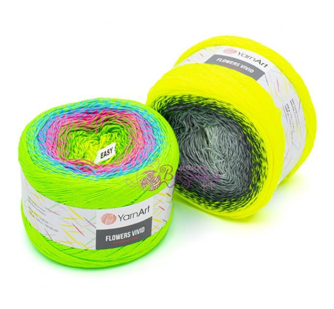 YARNART FLOWERS VIVID 250 grams-1000 meter Gradient Cotton Yarn Rainbow Knitting Yarn Crochet Cotton Organic Soft Yarn  Yarn  2