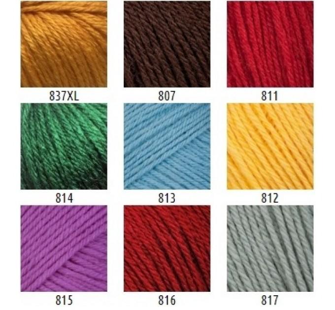 Gazzal BABY WOOL XL Yarn Merino Wool Yarn Cashmere Yarn Crochet Scarf Sweater Knitting Hat Cardigan Poncho Pullover Shawl  Yarn  2
