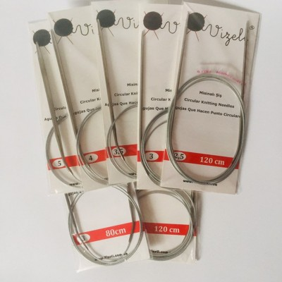 Circular Knitting Needles, Fixed Circular Tross in Silicone, All Lengths and Sizes, 2 2.5 3 3.5 4 4.5 5 5.5 6 7 8 9 10mm 80cm 120cm