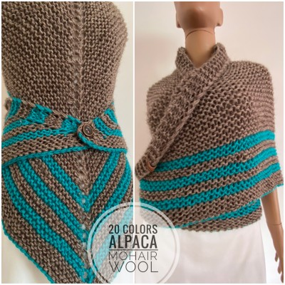Outlander Claire shawl alpaca shoulder wrap sontag wool triangle shawl scottish Inspired anniversary gift wife mom sister