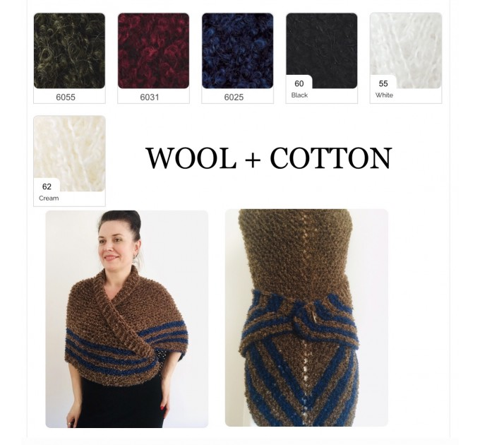 Gray 960 Triangle sontag shawl with button for fastening, Inspired Claire Carolina S4 Drums of Autumn Outlander Knit  Shawl Wool Mohair  7