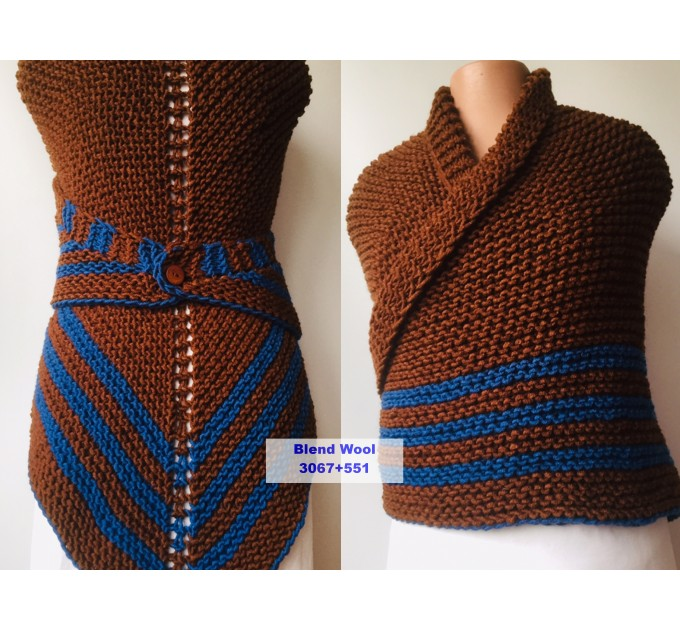 Brown Outlander Inspired Claire Shawl Alpaca, Shoulder warmer wrap, Wool Triangle sontag shawl with button for fastening, Claire Carolina S4 Drums of Autumn  Shawl Wool  4