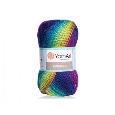YarnArt AMBIANCE Rainbow Gradient Wool Yarn 100 g 250 meters Multicolor Wool yarn for crochet Shawl Scarf yarn magic soft color choice yarn