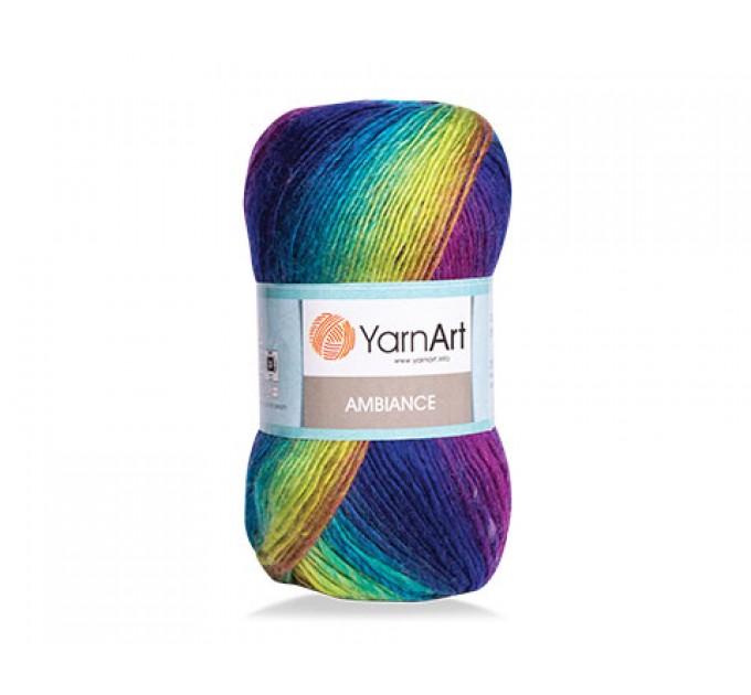 YarnArt AMBIANCE Rainbow Gradient Wool Yarn 100 g 250 meters Multicolor Wool yarn for crochet Shawl Scarf yarn magic soft color choice yarn  Yarn