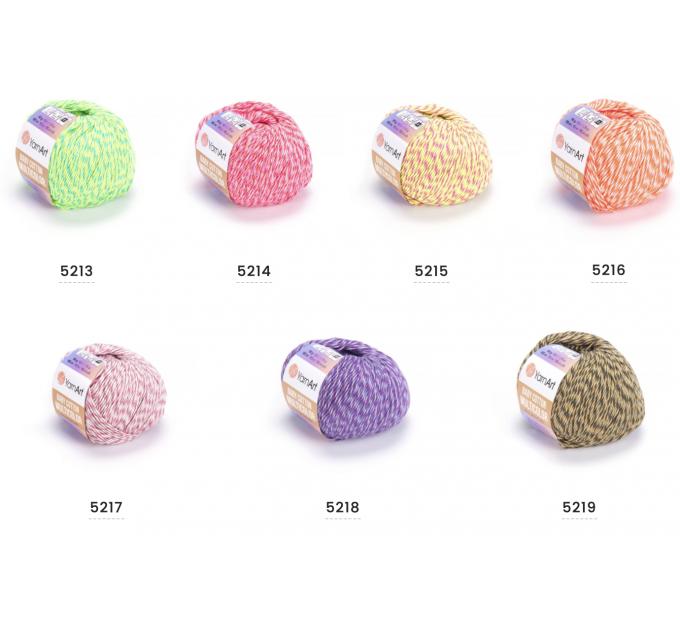 Yarn YarnArt BABY COTTON Multicolor ombre yarn amigurumi yarn gradient yarn cake knitting yarn rainbow yarn cotton multicolor yarn  Yarn  3