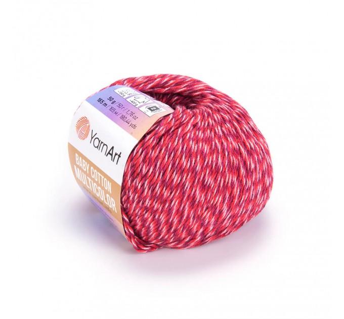 Yarn YarnArt BABY COTTON Multicolor ombre yarn amigurumi yarn gradient yarn cake knitting yarn rainbow yarn cotton multicolor yarn  Yarn  4