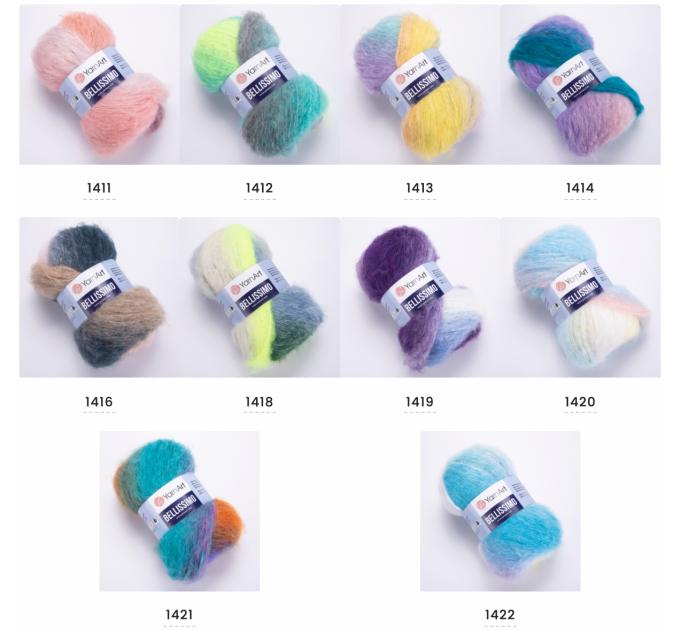 Yarn BELLISSIMO YarnArt mohair yarn ombre yarn gradient shawl yarn knitting yarn poncho yarn crochet yarn rainbow yarn wool yarn  Yarn  2