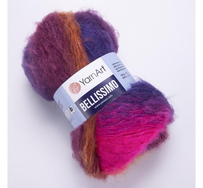 Yarn BELLISSIMO YarnArt mohair yarn ombre yarn gradient shawl yarn knitting yarn poncho yarn crochet yarn rainbow yarn wool yarn  Yarn  4