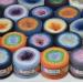 YARNART FLOWERS 250 grams-1000 meter Gradient Cotton Rainbow Knitting Yarn Crochet Cotton Granny Square Shawl Wraps Poncho Organic Soft Yarn  Yarn