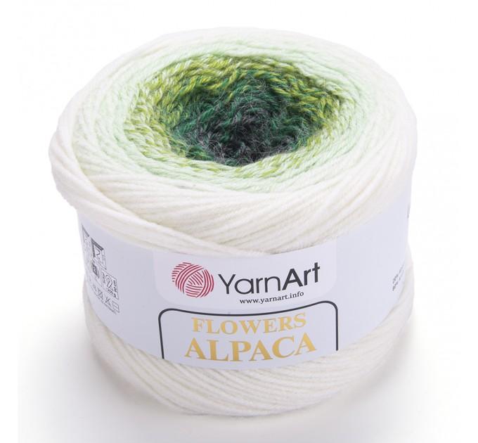 Flowers ALPACA YarnArt Yarn 250 grams 940 meters ombre yarn gradient yarn crochet yarn rainbow yarn knitting yarn cake multicolor yarn  Yarn  5