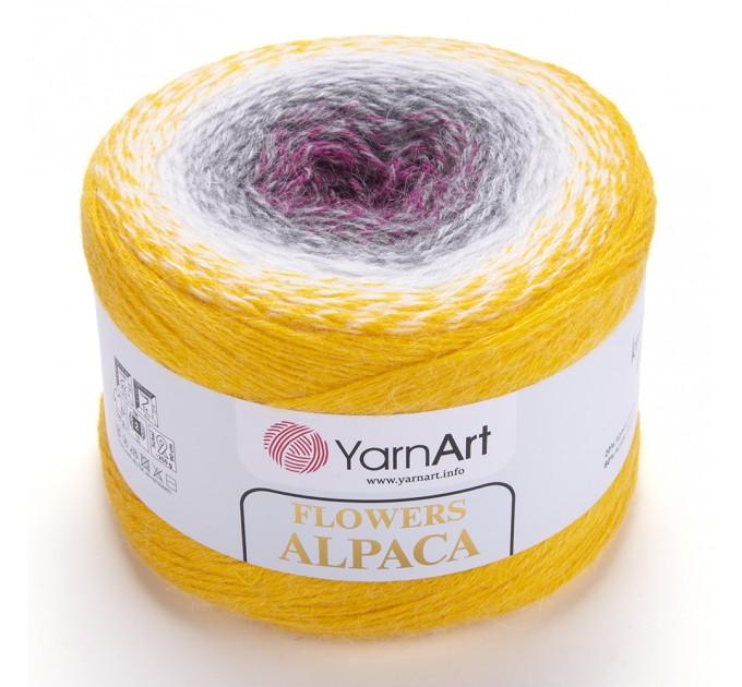 Flowers ALPACA YarnArt Yarn 250 grams 940 meters ombre yarn gradient yarn crochet yarn rainbow yarn knitting yarn cake multicolor yarn  Yarn