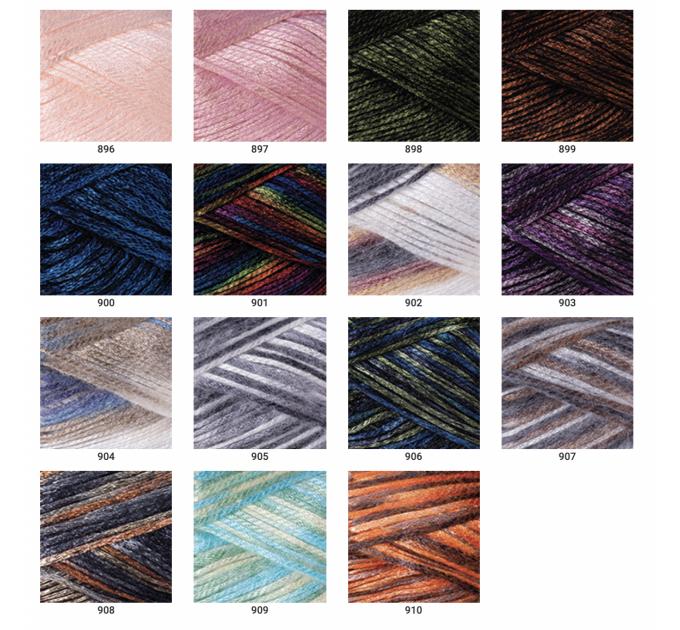 YARNART MELODY Yarn Blend Wool Multicolor Yarn Rainbow Melange Yarn Gradient Yarn Knitting Sweater Hat Scarf Crochet Poncho Shawl  Yarn  2